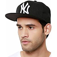 Sylan Boy's Cotton Snapback Baseball Cap (Black)