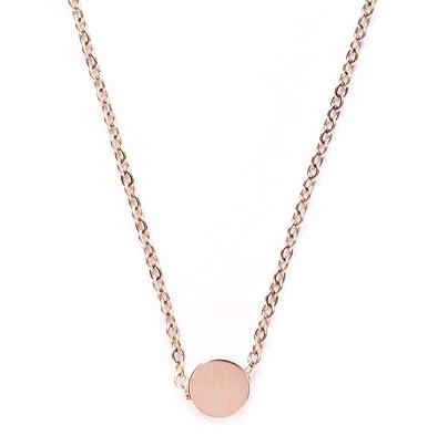Plaqué En Femmes Cercle Pendentif RoseMinimaliste Sans Avec Collier Happiness Boutique Nickel Or 1lFKJc