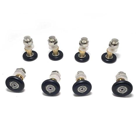 4pcs Replacement Single Bath Shower Door Roller Runners Wheels 25mm Diameter UK