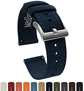 BARTON Canvas Apple Watch Bands - Navy Blue - For 42mm Apple Watch, Watch 2 & Watch 3