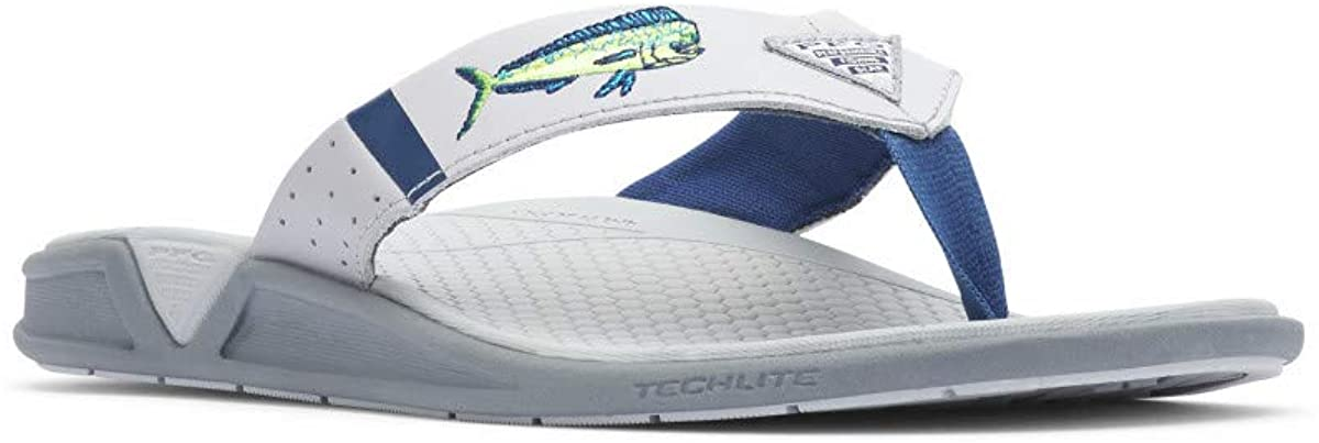 Columbia Men'S Pfg Fish Flip Sandal, Molded Insole, Wet-Traction Grip