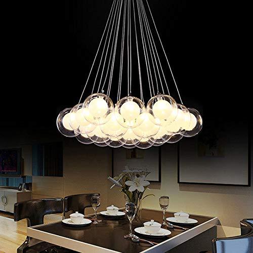 FidgetGear Modern Glass Ball Bubble LED Pendant Lamp Chandelier Ceiling Lights with G4 Bulb Cool White 15 Heads by FidgetGear (Image #4)