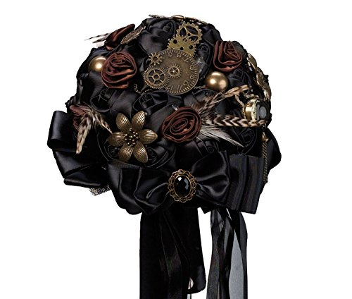 Lillian Rose Fashionable Steampunk Theme Wedding Bouquet, - Timepiece Perfect
