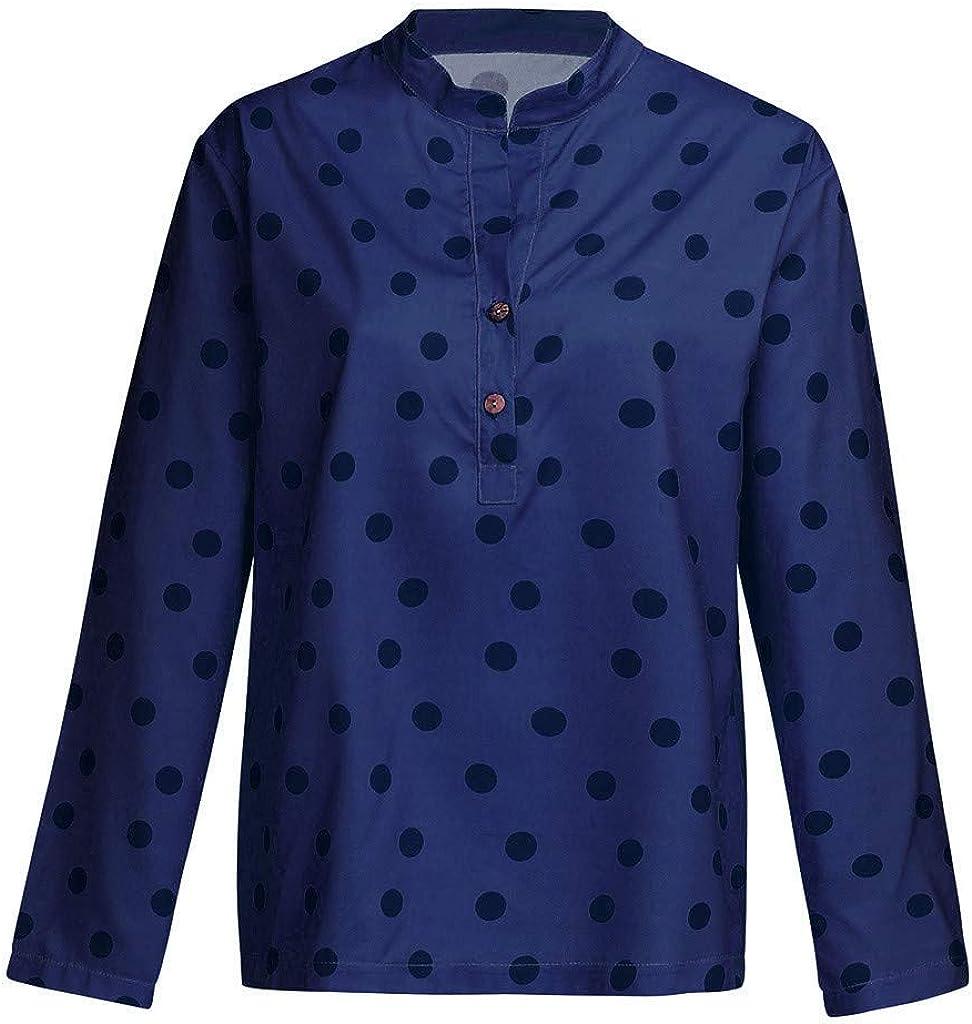 Cute Tops for Women,YEZIJIN Womens Casual Boho Long Sleeve Button T Shirts Lose Tank Tops for Teen Girls