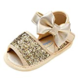 Longra Clearance for 0-18 Mouth Toddler Girls Sandals, Baby Kids Sequins Bowknot Fashion Toddler First Walkers Kid Soft Anti-Slip Shoes