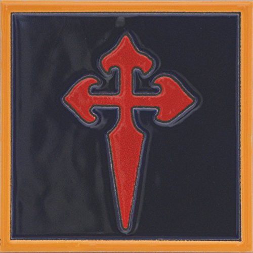 Cross Tile Coaster (Ceramic tile St. James Cross)