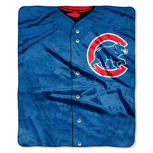 Chicago Cubs 50''x60'' Royal Plush Raschel Throw Blanket - Jersey Design ()