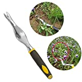 KingSo Garden Hand Weeder Weeding Tools With Ergonomic TPR Handle For Flower Vegetable Plants Digging Removing Planting Green Small