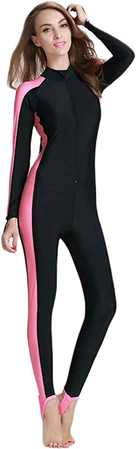 Women/'s One Piece Rash Guard Long Sleeve Swimsuit Sun Protection Surfing Wetsuit