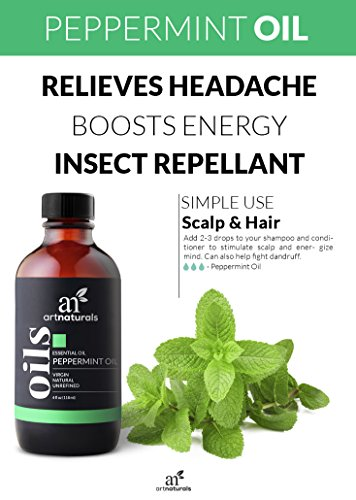 ArtNaturals Peppermint Essential Oil 4 oz -100% Pure and Natural Premium Therapeutic Grade Mentha Peperita - Best Fresh Scent for Home & Work, Perfect for Aromatherapy, Relaxation, Skin Therapy by ArtNaturals (Image #4)'
