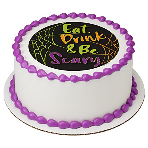 Halloween Eat, Drink and Be Scary Edible Cake