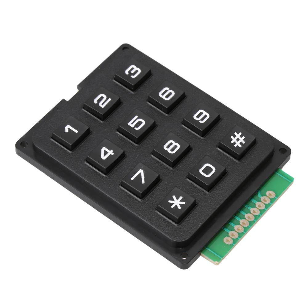 Mxfans Plastic 12Key Control Switch Keypad 160-180g Press Force for Access blhlltd M3181007039