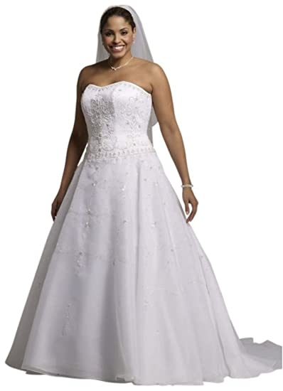 e7ad06d198c1 David's Bridal Sample: Satin Bodice with Organza Skirt and Beading Style  AI14310049 at Amazon Women's Clothing store: