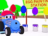 Learn Colors and Animals with Ted the Train : Easter Eggs / Ted feeds some animals