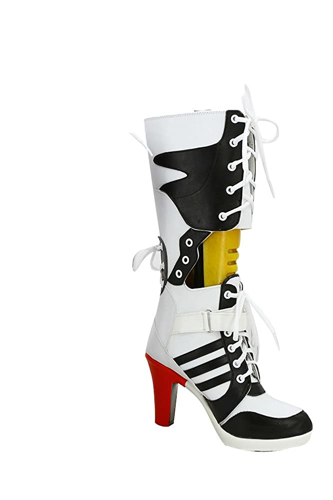 bffcc302acacac Harley Quinn Shoes Suicide Squad High Heels Halloween Party Harley Quinn  Boots Made  Amazon.co.uk  Clothing