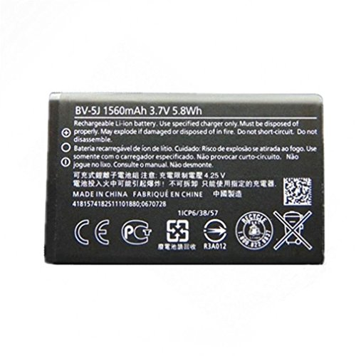 Replacement Battery For Nokia Microsoft Lumia 435 532 RM 1069 1070 1071 BV-5J BV5J 3.7V 1560mAh - Non-Retail Pack