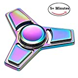 Fidget Spinner, THUSTAR Metal Fidget Hand Spinner Ceramic Bearing High Speed Tri-Spinner Fidget Finger Toy Stress Reducer Perfect for ADD,ADHD,Anxiety and Autism Adults or Kids,Colorful
