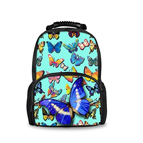CHAQLIN Unique Teenager Student School Bags Girls Casual Blue Backpack [並行輸入品]   B078WWQFW9