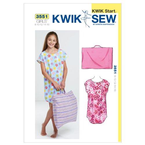 K3551 Pillowcase Sewing Pattern 8 10 12 14 16 product image