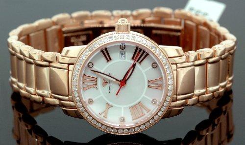 Ladies Classic Diamond Aqua Master Watch Rose w319b by Aqua Master