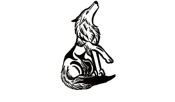 Lobo aullando tatuaje sesion , vinilo adhesivo, pegatinas - 50cm ...