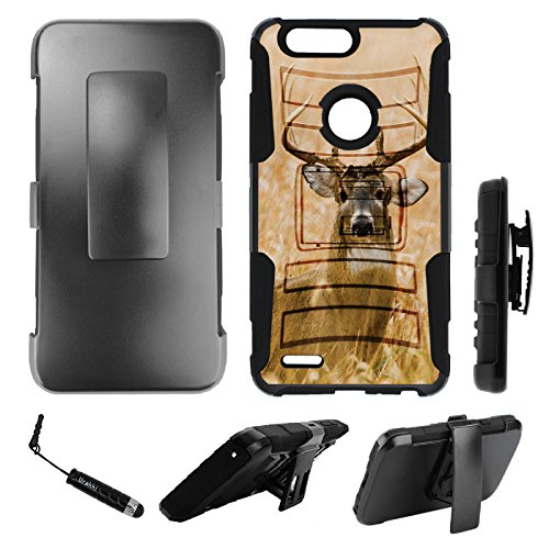 ZTE Zmax Pro 2 Holster Case, Hybrid 2-Layer Shock Proof Armor Holster...