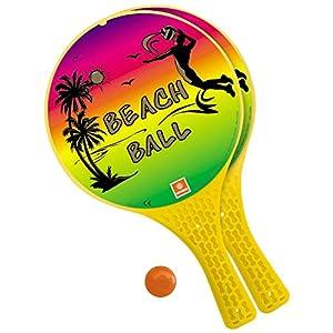 Mondo Toys - Racchette da spiaggia Fluo -  2 Racchette in plastica / pallina di gomma - Gioco da Spiaggia per Bambini e Adulti -15004 12 spesavip