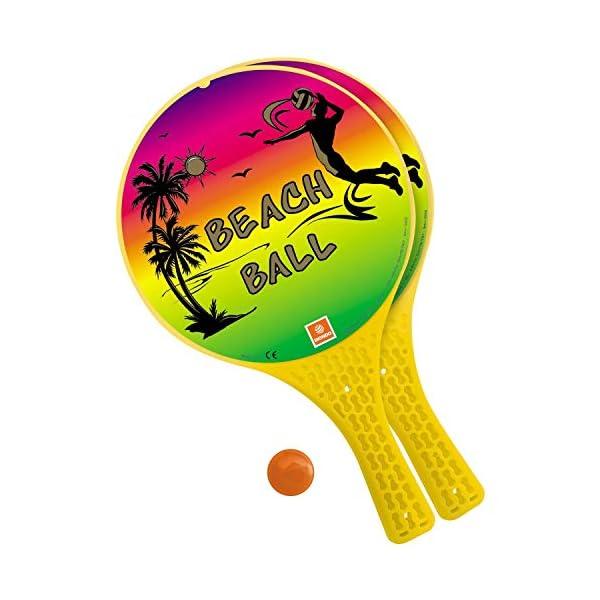Mondo Toys 15980 Set di 2 Racchette da spiaggia con pallina di gomma, Ø 22 cm 1 spesavip