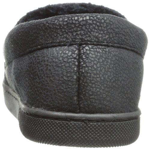 Isotoner Pantoufle Mocassin Microsuede Galets Avec Galon Noir