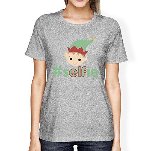 Taglia da donna unica corta Selfie Elf shirt T 365 Hashtag a Stampa manica c8ZWqZ
