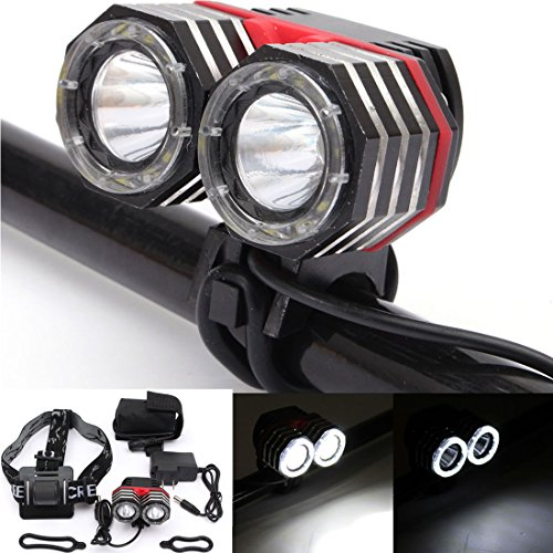 Waterproof 15000Lm 9 x CREE XM-L T6 LED Cycling Flashing Light Lamp - 1