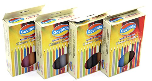 Govinda Chime Spell Candles (4 Inch) - Set of 48 Color Candles - 12 (Spell Supplies)