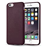 """iPhone 6s Case, JAMMYLIZARD Ultra Slim Silicone Stitched Jelly Rubber Back Cover for iPhone 6 / 6s 4.7"""", Burgundy"""