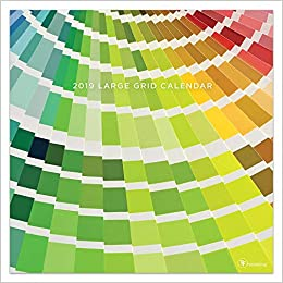 2018 for the love of color large grid mini calendar
