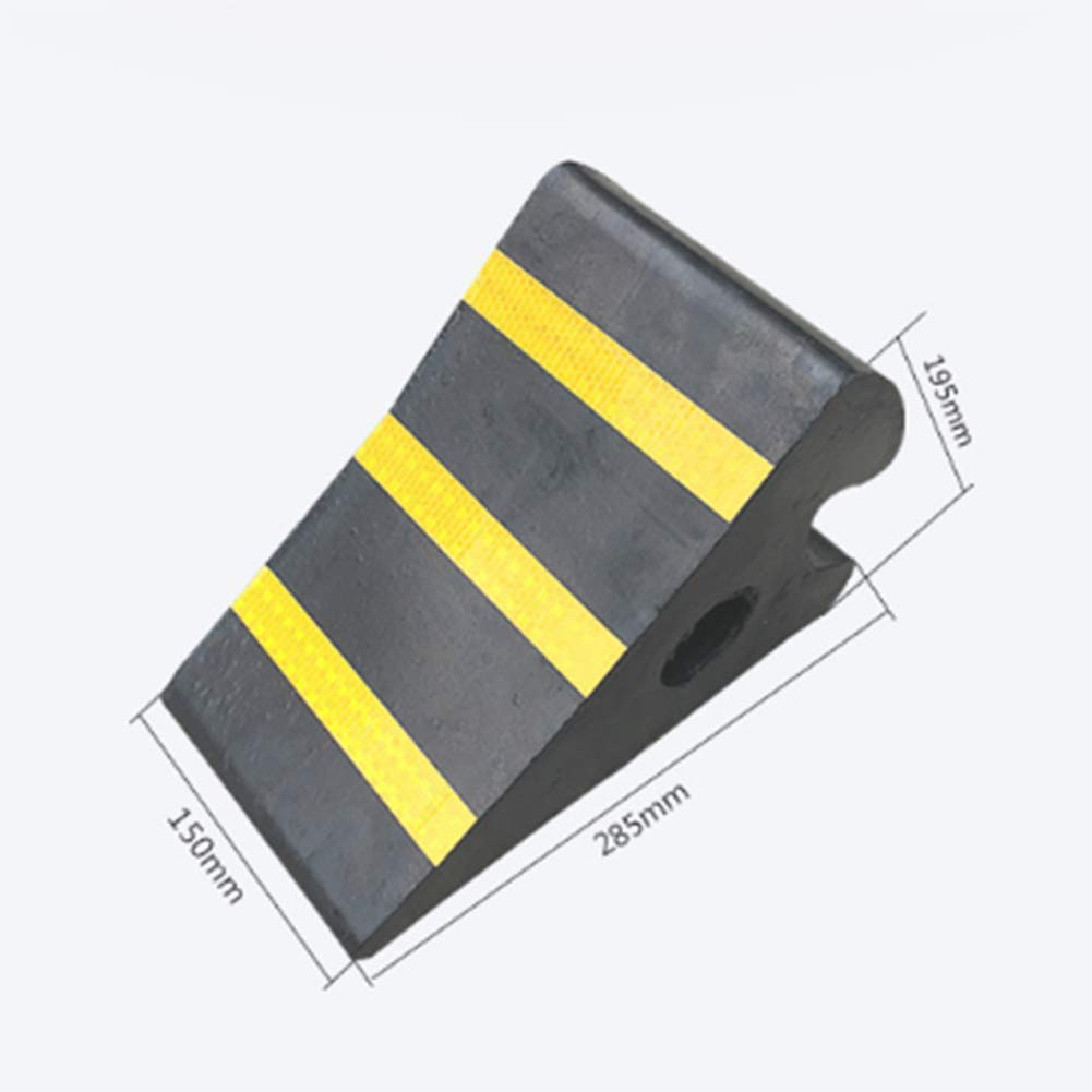 WE&ZHE Rubber Slider - Step Slope Tire Locator - Triangle Wood Parking Stopper Wheel Stopper by WE&ZHE (Image #3)