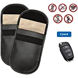 2 Packs Car Key Signal Blocker Case Hltd Keyless Entry Fob Guard Blocking Pouch Bag for Protecting Antitheft Lock Devices Blocking Credit Card And Any Signal of WIFI/GSM/LTE/NFC/RFID