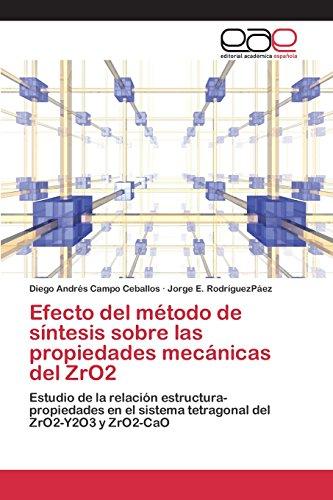 Descargar Libro Efecto Del Método De Síntesis Sobre Las Propiedades Mecánicas Del Zro2 Campo Ceballos Diego Andrés