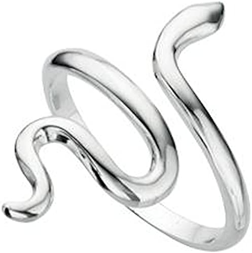bague en argent forme serpent