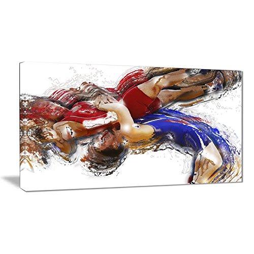 Wrestling Design - Digital Art PT2554-32-16