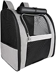 FOYOPET Pet Carrier Backpack for Cats and Dogs Up to 22 lbs, Collapsible Cat Carrier for Large Cats, Small Dog Carrier Ventilated Design for Puppies, Rabbits, Small Pets Travel, Hiking & Outdoor Use