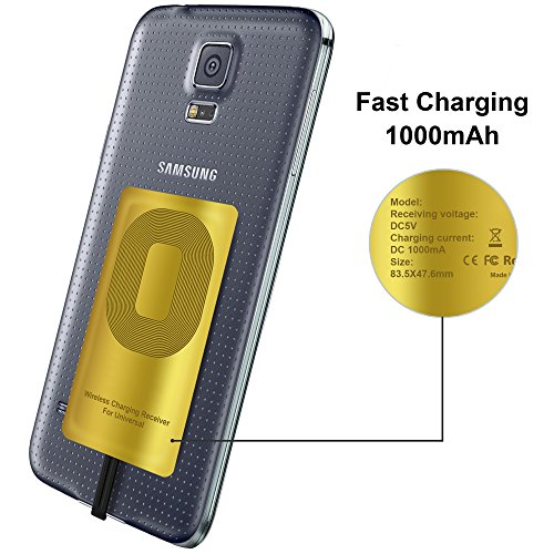 QI Receiver Type A for Samsung Galaxy J7 - J3-J6- S5 - LG V10 -LG Stylo 2-3  -Plus - QI Wireless Adapter- Wireless Charging Receiver- QI Receiver