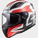 LS2 Helmets Unisex Adult Full Face Helmet (White, XXX-Large)