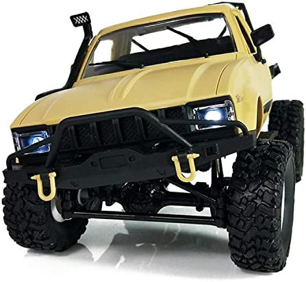 Toogoo WPL C14 1:16 Scale 2.4G 2CH 4WD Mini Off-road RC Semi-truck RTR Kids Climb Truck yellow