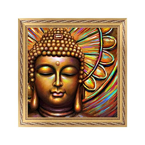 Shoresu 5D DIY Diamond Painting, Buddha 5D DIY Painting Painting By Numbers Diamonds Embroidery Painting Cross Stitch Kit DIY Home Decor 3030cm