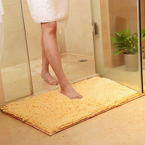 Chenille Shaggy Bathroom Mat, Zeafeel Non-slip Soft Absorbent Kitchen Floormat Bath Rugs Floor Mat Carpet (24