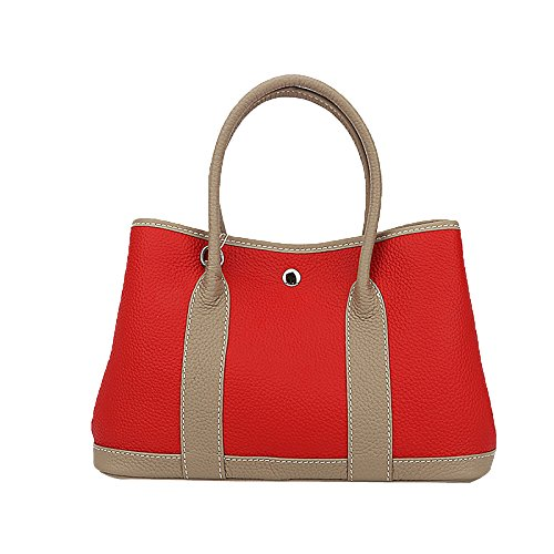 Cuir Handbags élégantes Top En Red Handle Bandoulière Femmes Business rouge à Véritable Sac 8n1fqSwax