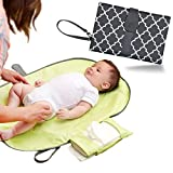 Baby Changing Pad, Portable Changing Pad - JJ OVCE A Lightweight and Reusable Diaper Changing Pad, A fashion Accessory and Travel Diaper Changing Pad Rolled into One for Infant and Newborns (Grey)