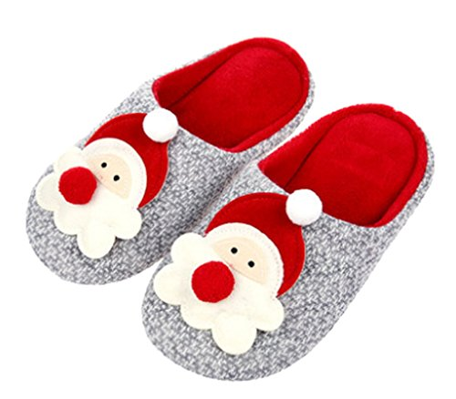 Cattior Womens Cute Warm Slippers Pantofole Morbide Rosse