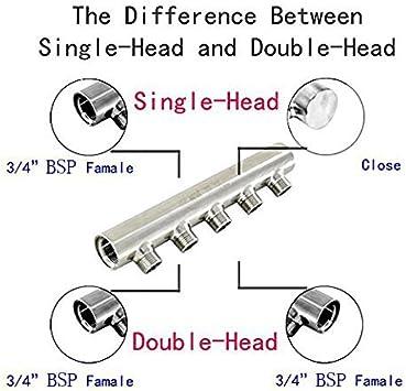 kingbull 5/salidas de agua colector flujo de aire bomba tubo Single-Head