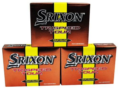Srixon Trispeed Tour Yellow 1-Dozen Golf Balls